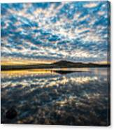 Cloudscape - Reflection Of Sky In Wichita Mountains Oklahoma Canvas Print