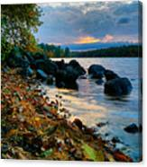 Cloudy Autumn Sunset Canvas Print