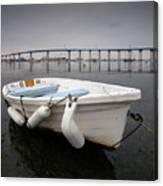 Cloudy Coronado Island Boat Canvas Print