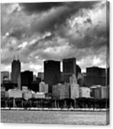 Cloudy Day Chicago - 2 Canvas Print