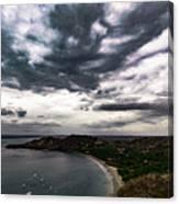 Cloudy Ocean View Canvas Print