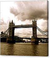 Cloudy Over Tower Bridge Canvas Print
