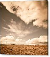 Cloudy Plain Canvas Print