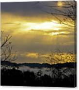 Cloudy Sunrise 1 Canvas Print