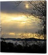 Cloudy Sunrise 2 Canvas Print
