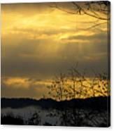 Cloudy Sunrise 3 Canvas Print