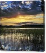 Cloudy Sunrise Canvas Print