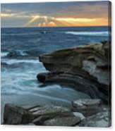 Cloudy Sunset At La Jolla Shores Beach Canvas Print