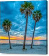 Cloudy Sunset -tampa, Florida Canvas Print