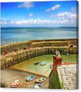 Clovelly Harbor In Devon, Uk Canvas Print