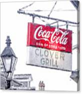 Clover Grill Coke Sign Canvas Print