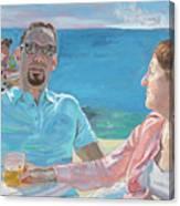Clovis And Bethany At Tobacco Bay, Bermuda Canvas Print