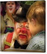 Clown - Face Painting Canvas Print