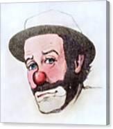 Clown Emmett Kelly Canvas Print