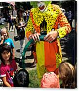Clown Entertaining Kids Canvas Print