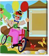 Clown Greeting Canvas Print