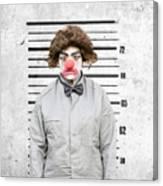 Clown Mug Shot Canvas Print