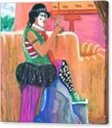 clown on Taos plaza Canvas Print