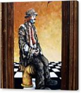 Clown S Melancholy Canvas Print