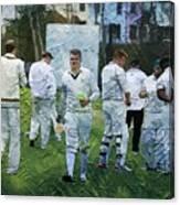 Club Cricket Tea Break Canvas Print