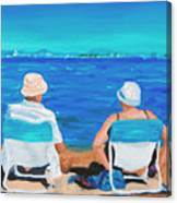 Clyde And Elma At The Beach Canvas Print