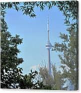 Cn Tower Framed Canvas Print