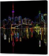 Cn Tower Outline Canvas Print