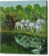 Coach And Four In Hand Canvas Print