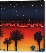 Coachellaland Canvas Print