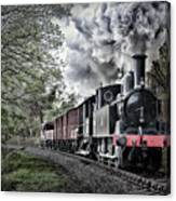 Coal Tank Engine In The Rain Canvas Print