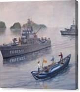 Coast Guard Cutters Pt Hudson And Pt Grace In Vietnam Canvas Print
