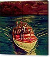 Coast Guard Before The Storm Canvas Print