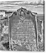 Coast - Whitby Freemason Grave Canvas Print