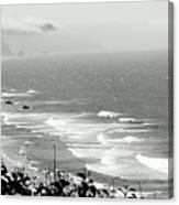Coastal Bandw Canvas Print
