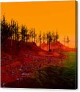 Coastal Burn Taj Canvas Print