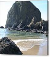 Coastal Landscape - Cannon Beach Afternoon - Scenic Lanscape Canvas Print