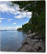 Coastal Maine's Rocky Shore On A Beautiful Summer Day Canvas Print