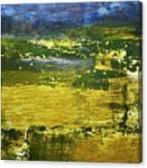 Coastal Marsh View Abstract Canvas Print