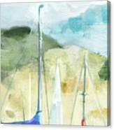 Coastal Sails Canvas Print