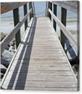 Coastal Walkway Canvas Print