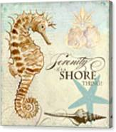 Coastal Waterways - Seahorse Serenity Canvas Print