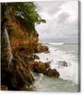 Coastline Waterfall Canvas Print