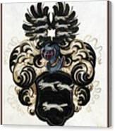 Coat Of Arms Black Canvas Print