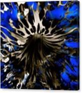 Cobalt Blue Wormhole Canvas Print
