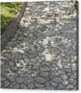 Cobblestone Path In A Park Canvas Print