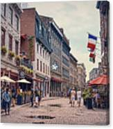 Cobblestone Streets In Old Montreal  Canvas Print