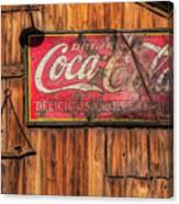 Coca Cola Barn Canvas Print
