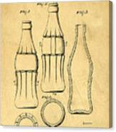 Coca Cola Bottle Patent Art 1937 Blueprint Drawing Canvas Print