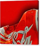 Coca-cola Can Crush Red Canvas Print