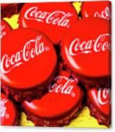 Coca Cola Caps Canvas Print